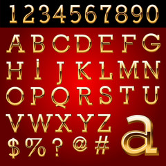 Golden typefaces. Vector file contains applicable Style.