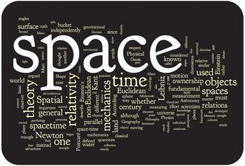 Space word cloud