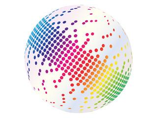 pixels on ball vector illustration