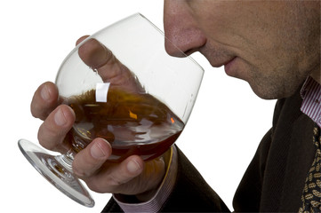 Alcohol in glass