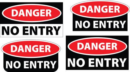 danger - no entry