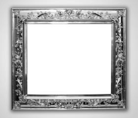 Shinny silver frame