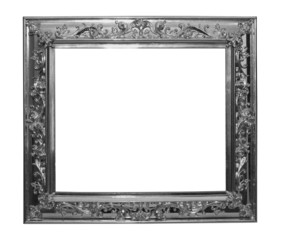 Shinny silver frame isolated