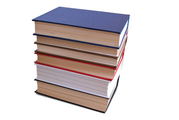 Books stack. Isolated on white background with clipping path.