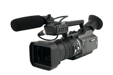 Pro Video camera isolated