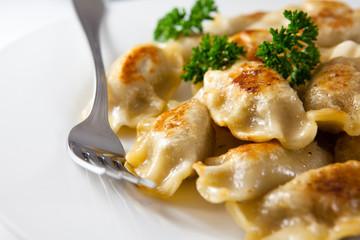 Pierogi.Traditional polish christmas dish