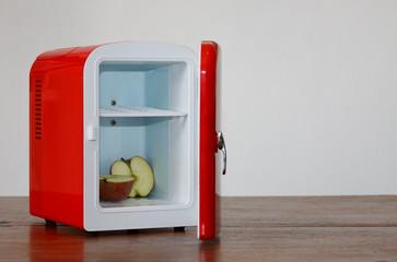 Red miniature fridge