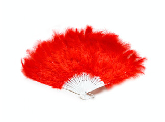 Red fan from feather