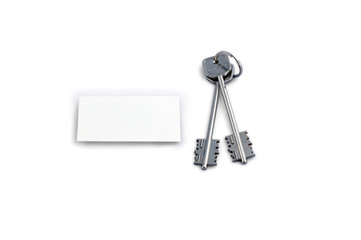 home keys and white square