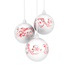Christmas balls with curls