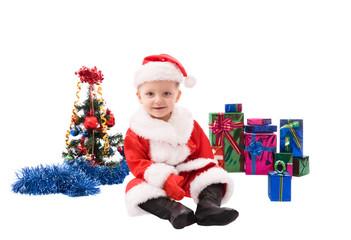 Beautiful toddler Santa