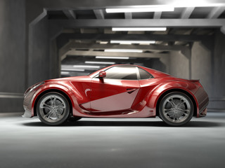 Red sport car