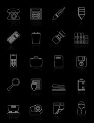 Office tools Icons vector icon set 3