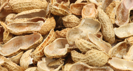 ground nut shells