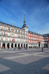 Garden Poster Madrid Sur la plaza Mayor de Madrid