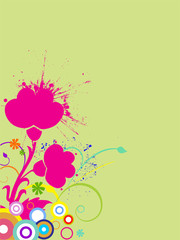 Bunter floraler Hintergrund