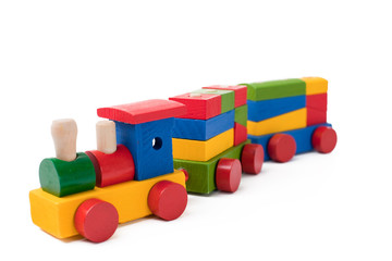 Colorful toy train