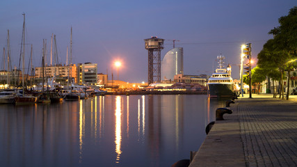 Barcelona - waterfront in morning