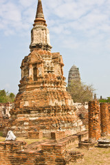 contrasting pagoda