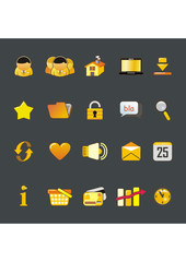 yellow icon pack
