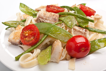 pasta with fish and vegetables