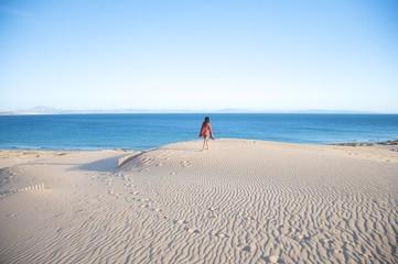 hiking on tarifa sand dunes
