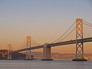 Sunshine above Bay Bridge