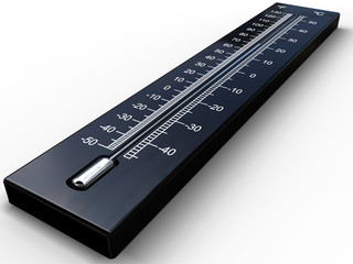 Black 3D thermometer