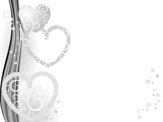 Silver Christmas with hearts