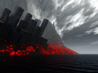 2012 Destruction Of City By Lava