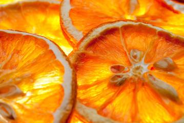 Spoed Foto op Canvas Plakjes fruit Orangenscheiben getrocknet