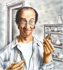 Chemiker, Portrait, schmutzige Bombe, Anschlag