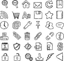 Web Icons - Skizzen