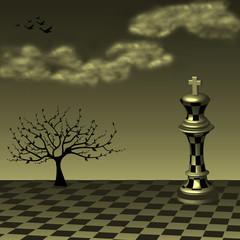 Abstract chess art