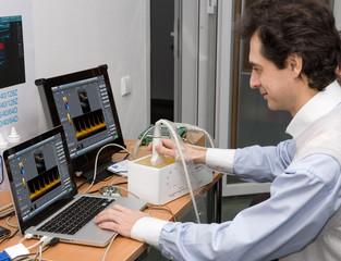 Technology and development ultrasound device.