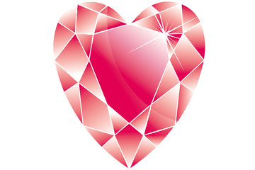 the vector image of red diamond