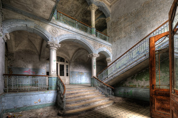 Canvas Prints Old Hospital Beelitz Beelitzer Treppenaufgang