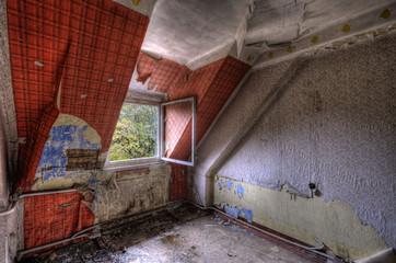 Keuken foto achterwand Oud Ziekenhuis Beelitz red wallpaper