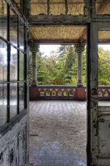 Keuken foto achterwand Oud Ziekenhuis Beelitz Blick auf die Terasse II