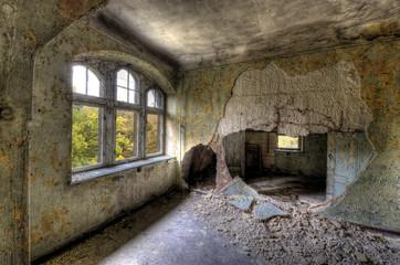 Keuken foto achterwand Oud Ziekenhuis Beelitz Raum mit Loch