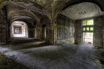 Keuken foto achterwand Oud Ziekenhuis Beelitz Beelitzer Gewölbegang