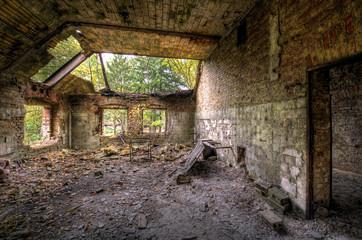 Foto op Canvas Oud Ziekenhuis Beelitz Sanierungsfall Beelitzer Heilstätten