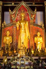 Buddha image in Thailand, Wat Jedi Lanng, Chiang Mai, Thailand