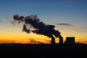 Schwarze Pumpe Kraftwerk Sonnenaufgang 01