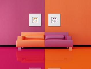 living room in pop-art style
