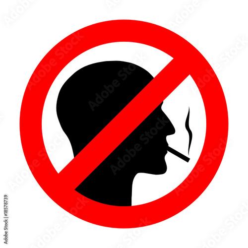 rauchen verboten schild mit kopf i stockfotos und lizenzfreie vektoren auf bild. Black Bedroom Furniture Sets. Home Design Ideas
