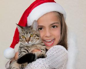 fêter Noël avec son chat