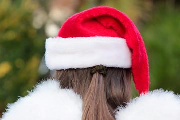 ange de Noël de dos