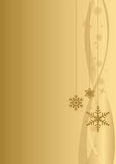 Sfondo Natale verticale oro