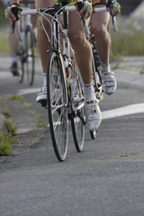 wheels during a cycling race